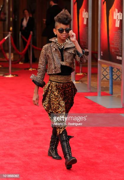 Actress Willow Smith arrives to premiere of Columbia Pictures' 'The Karate Kid' after party held at Mann Village Theatre on June 7 2010 in Westwood...