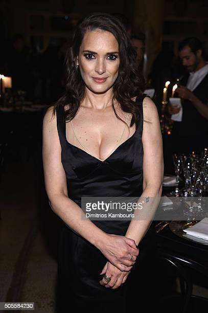 Actress Winona Rider attends Marc Jacobs Beauty Velvet Noir Mascara Launch Dinner on January 18 2016 in New York City