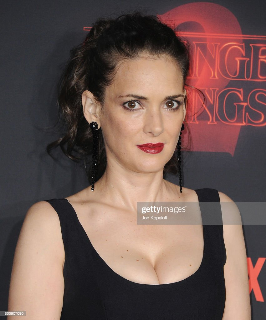 Actress Winona Ryder arrives at the premiere of Netflix's 'Stranger Things' Season 2 at Regency Bruin Theatre on October 26, 2017 in Los Angeles, California.