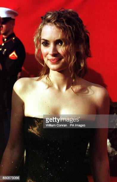 Actress Winona Ryder at the 73rd Annual Academy Awards held at the Shrine Auditorium in Los Angeles She is wearing a gold sequined vintage dress