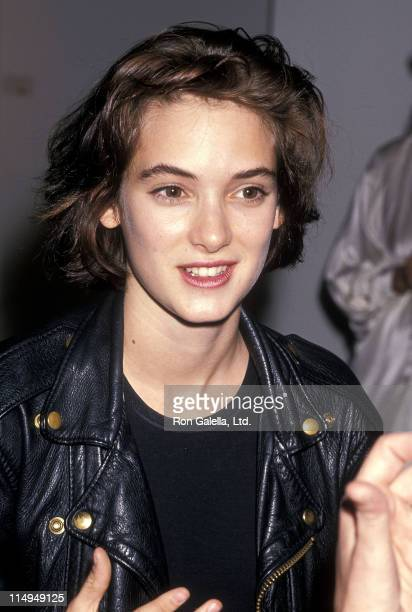 Actress Winona Ryder attends Damien Elwes' Art Exhibtion on April 29 1989 at the CAZ Gallery in West Hollywood California