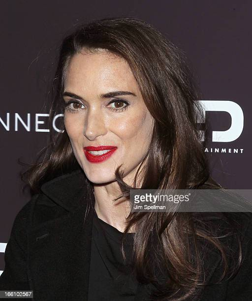 Actress Winona Ryder attends 'Disconnect' New York Special Screening at SVA Theater on April 8 2013 in New York City