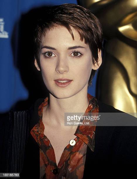 Actress Winona Ryder attends the 66th Annual Academy Awards Nominees Luncheon on March 8 1994 at Beverly Hilton Hotel in Beverly Hills California