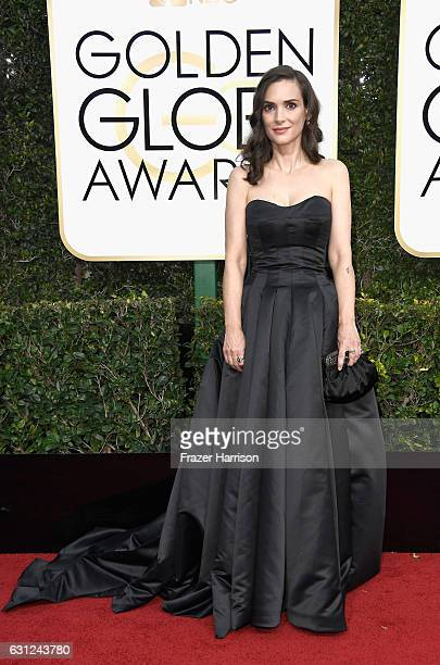 Actress Winona Ryder attends the 74th Annual Golden Globe Awards at The Beverly Hilton Hotel on January 8 2017 in Beverly Hills California