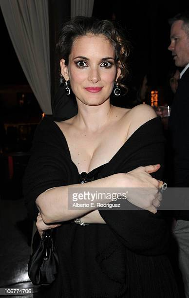 Actress Winona Ryder attends the 'Black Swan' closing night gala after party during AFI FEST 2010 presented by Audi held at Hollywood Roosevelt Hotel...