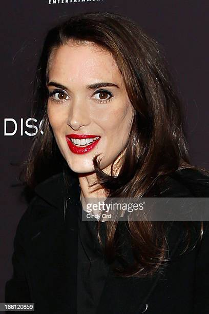 Actress Winona Ryder attends the 'Disconnect' New York Special Screening at SVA Theater on April 8 2013 in New York City