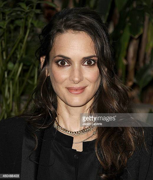 Actress Winona Ryder attends the 'Homefront' press conference at Four Seasons Hotel Los Angeles at Beverly Hills on November 18 2013 in Beverly Hills...
