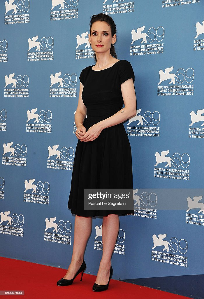 Actress Winona Ryder attends 'The Iceman' photocall during the 69th Venice Film Festival at the Palazzo del Casino on August 30 2012 in Venice Italy