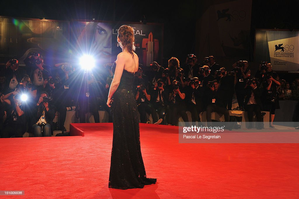 Actress Winona Ryder attends 'The Iceman' premiere during the 69th Venice Film Festival at the Palazzo del Cinema on August 30 2012 in Venice Italy