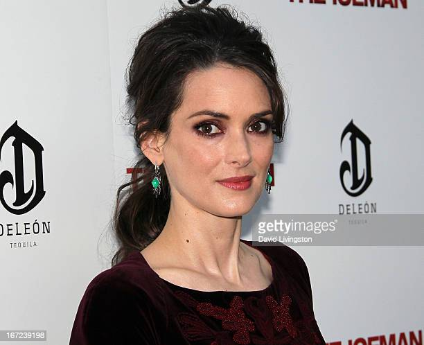 Actress Winona Ryder attends the Los Angeles special screening of Millennium Entertainment's 'The Iceman' at ArcLight Hollywood on April 22 2013 in...