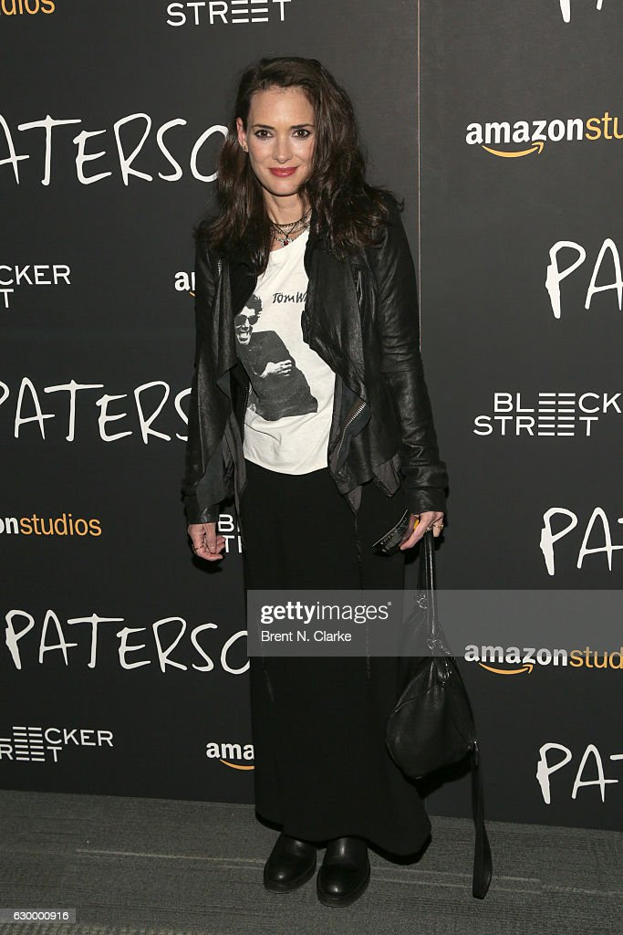 Actress Winona Ryder attends the 'Paterson' New York screening held at the Landmark Sunshine Cinema on December 15, 2016 in New York City.