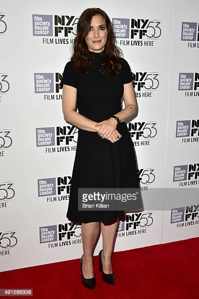 Actress Winona Ryder attends the premiere of 'Experimenter' during the 53rd New York Film Festival at Alice Tully Hall Lincoln Center on October 6...
