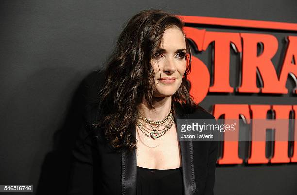 Actress Winona Ryder attends the premiere of 'Stranger Things' at Mack Sennett Studios on July 11 2016 in Los Angeles California