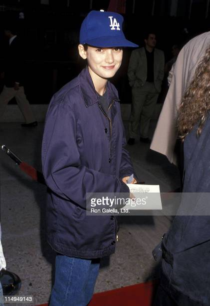 Actress Winona Ryder attends the 'Sex Lies and Videotape' Century City Premiere on August 3 1989 at Cineplex Odeon Century Plaza Cinemas in Century...