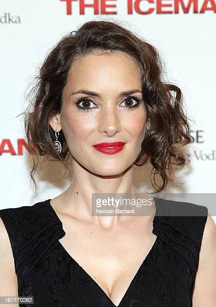 Actress Winona Ryder attends the special New York screening of 'The Iceman' hosted by GREY GOOSE Vodka and Millennium Entertainment at Chelsea...