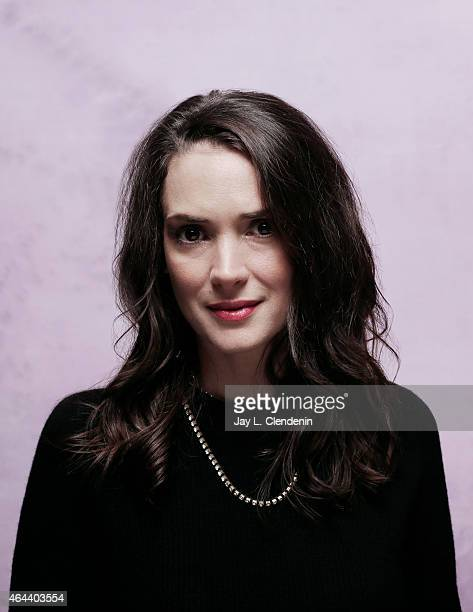 Actress Winona Ryder is photographed for Los Angeles Times at the 2015 Sundance Film Festival on January 24 2015 in Park City Utah PUBLISHED IMAGE...