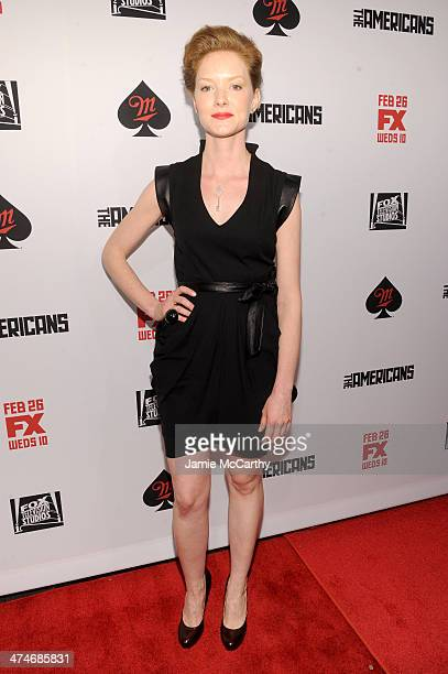 Actress Wrenn Schmidt attends 'The Americans' season 2 premiere at the Paris Theater on February 24 2014 in New York City