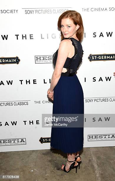 Actress Wrenn Schmidt attends The Cinema Society With Hestia StGermain Host a Screening of Sony Pictures Classics' 'I Saw the Light' at Metrograph on...