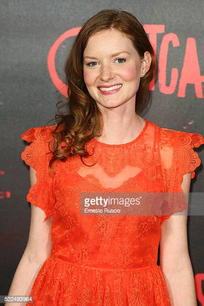 Actress Wrenn Schmidt attends the 'Outcast' premiere at Auditorium Della Conciliazione on April 19 2016 in Rome Italy
