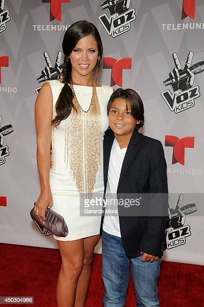 Actress Ximena Duque and her son Cristan Carabias attend La Voz Kids Grand Finale at Universal Orlando on June 7 2014 in Orlando Florida