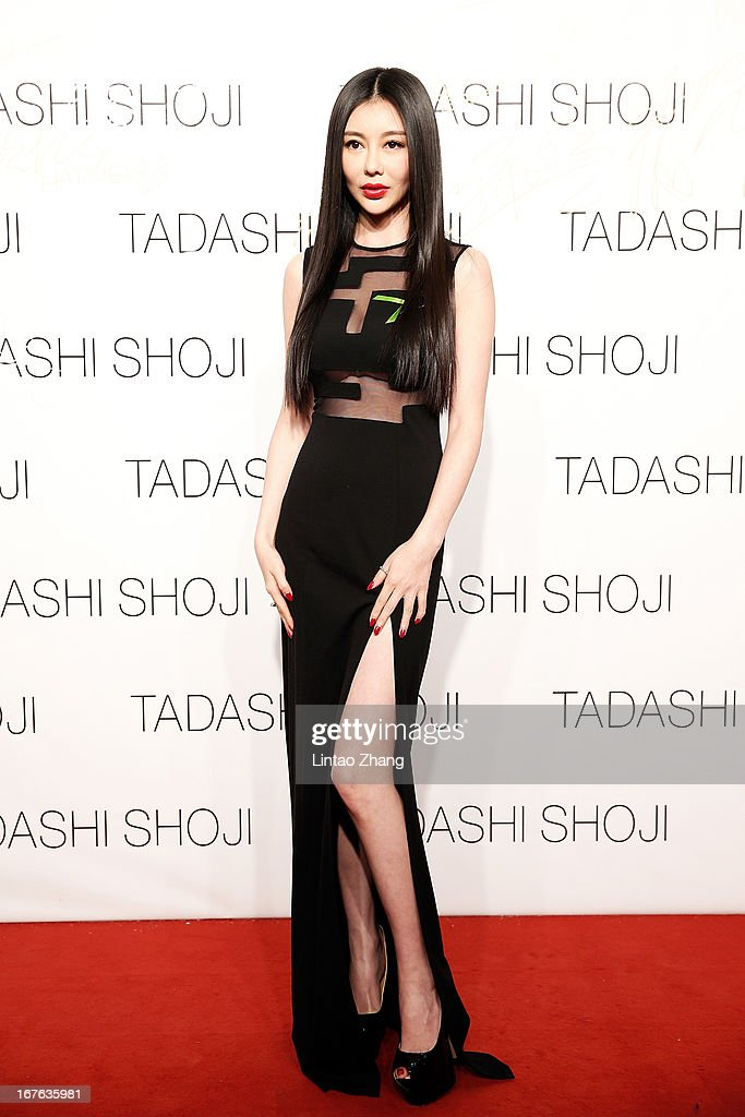 Actress Xinliang Gong attends the Tadashi Shoji Beijing Store Grand Opening at Beijing Parkview Green on April 26, 2013 in Beijing, China.