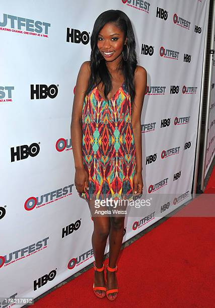 Actress Xosha Roquemore arrives at the 2013 Outfest Film Festival closing night gala of 'GBF' at the Ford Theatre on July 21 2013 in Hollywood...