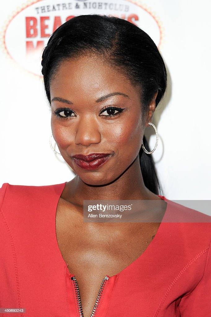 Actress Xosha Roquemore arrives at the Los Angeles premiere of 'G.B.F.' at Chinese 6 Theater in Hollywood on November 19, 2013 in Hollywood, California.