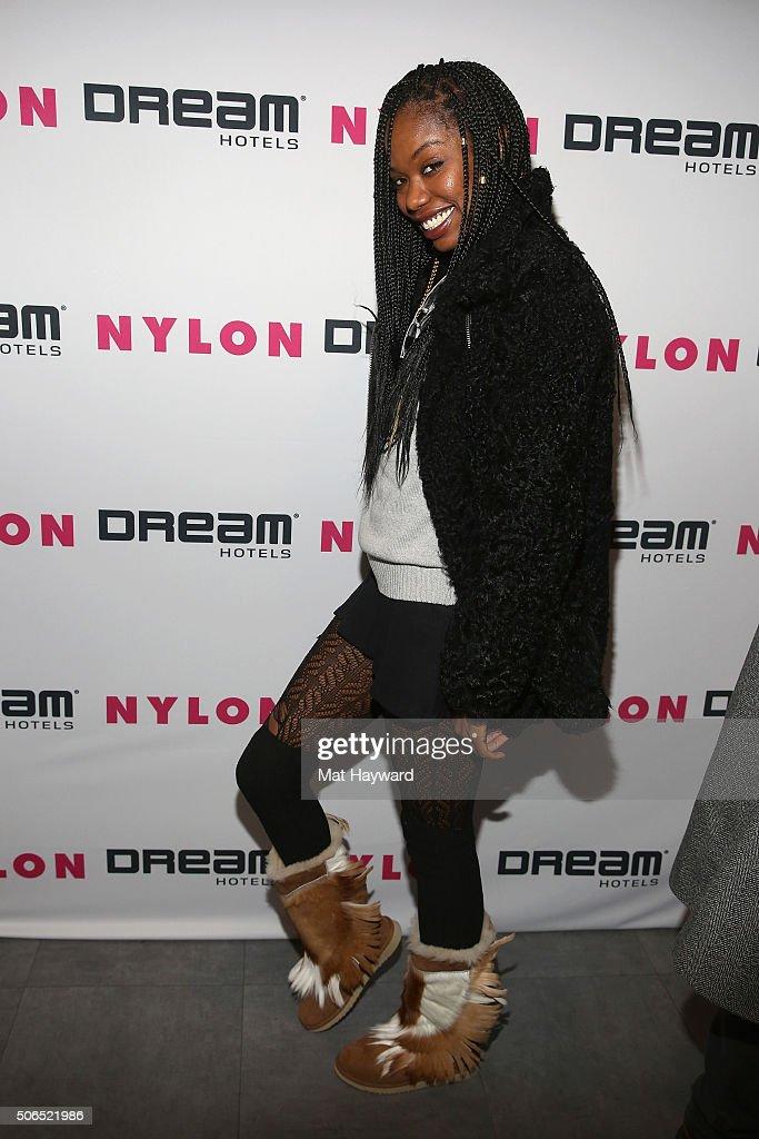 Actress Xosha Roquemore attends NYLON + Dream Hotels Apres Ski at Sundance Film Festival on January 23, 2016 in Park City, Utah.