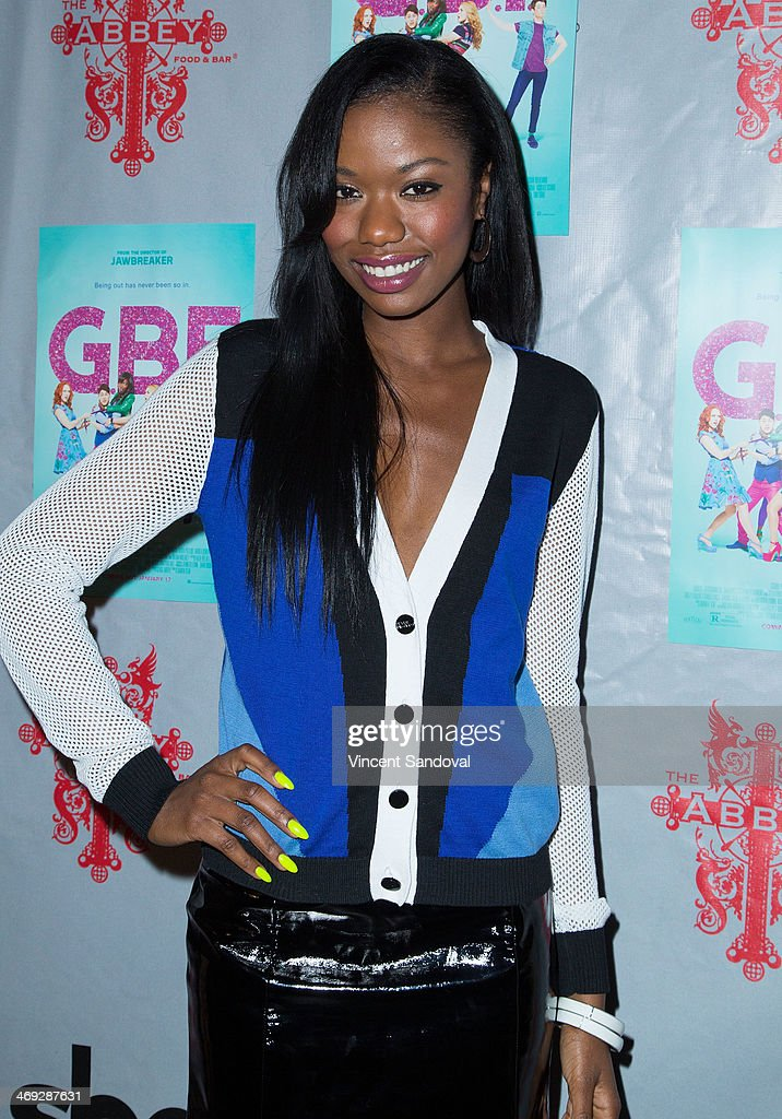Actress Xosha Roquemore attends the 'G.B.F.' DVD release party at The Abbey on February 13, 2014 in West Hollywood, California.