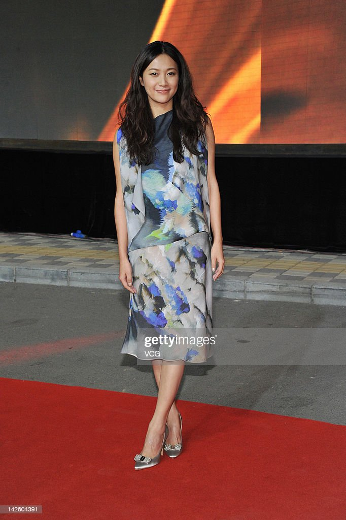 Actress Xu Jinglei attends the China Film Directors' Guild Award at the Olympic Sports Center on April 8 2012 in Beijing China