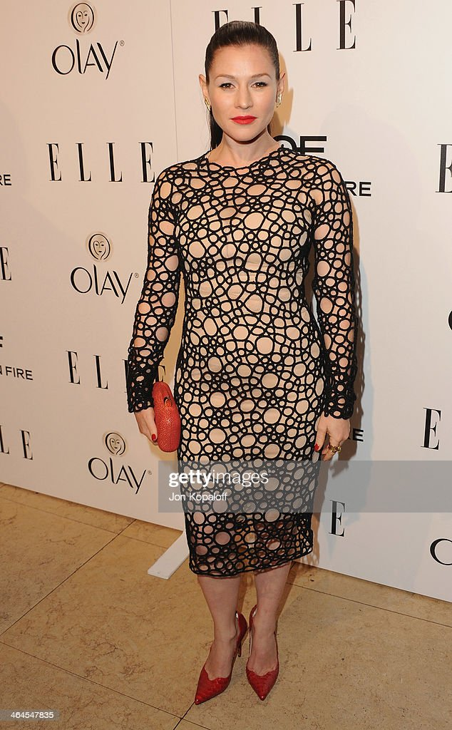 Actress Yael Stone arrives at the ELLE Women In Television Celebration at Sunset Tower on January 22, 2014 in West Hollywood, California.