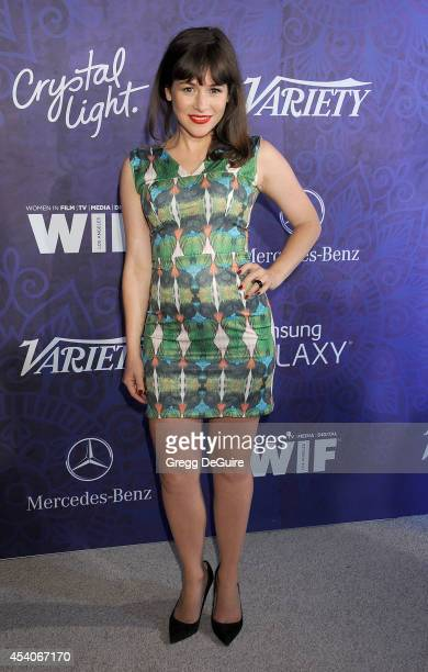 Actress Yael Stone arrives at the Variety And Women In Film Annual PreEmmy Celebration at Gracias Madre on August 23 2014 in West Hollywood California