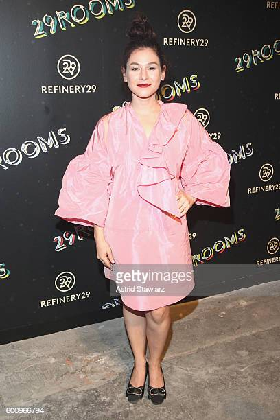 Actress Yael Stone attends Refinery29's Second Annual New York Fashion Week Event '29Rooms' on September 8 2016 in Brooklyn New York