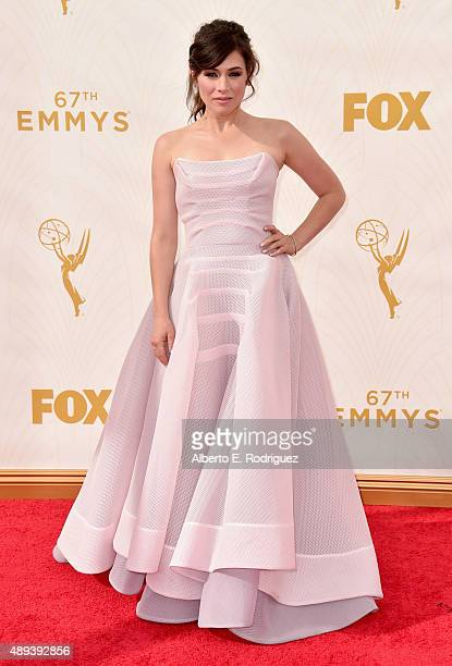 Actress Yael Stone attends the 67th Emmy Awards at Microsoft Theater on September 20 2015 in Los Angeles California 25720_001