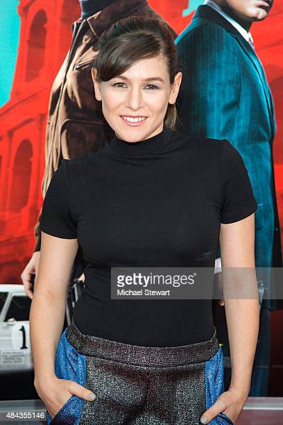 Actress Yael Stone attends 'The Man From UNCLE' New York premiere at Ziegfeld Theater on August 10 2015 in New York City