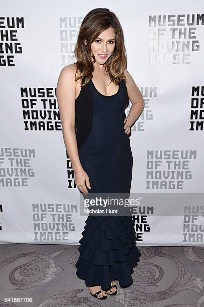 Actress Yael Stone attends the Museum of the Moving Image honoring Netflix Chief Content Officer Ted Sarandos and Seth Meyers at St Regis Hotel on...
