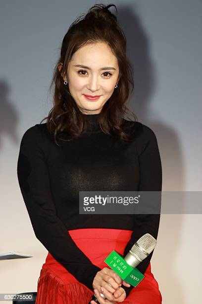 Actress Yang Mi attends an endorsement event of Oppo on December 19 2016 in Shanghai China