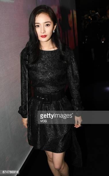 Actress Yang Mi attends Michael Kors activity on November 15 2017 in Shanghai China