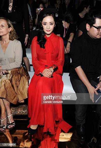 Actress Yang Mi attends the Gucci Spring/Summer 2012 fashion show as part Milan Womenswear Fashion Week on September 21 2011 in Milan Italy