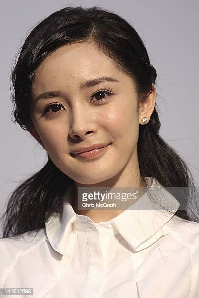 Actress Yang Mi attends the 'Painted Skin 2' Press Conference as part of the Hong Kong International Film Festival at the Hong Kong Convention and...