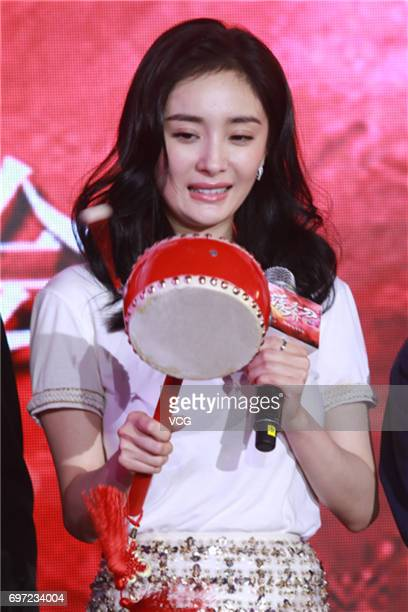 Actress Yang Mi attends the press conference of film 'Brotherhood of Blades 2' during the 20th Shanghai International Film Festival on June 18 2017...