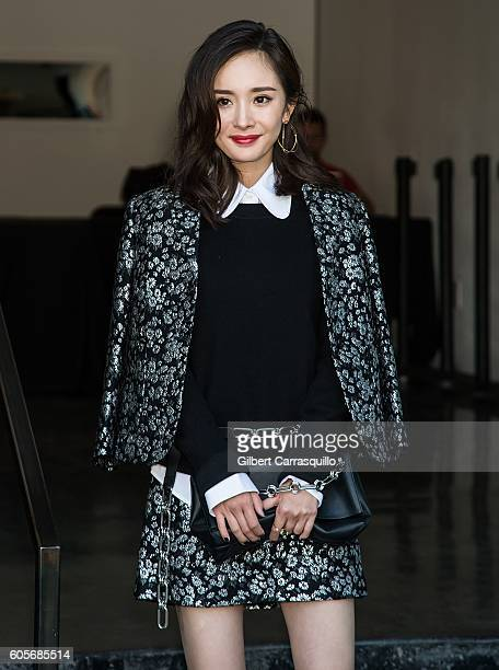 Actress Yang Mi is seen leaving the Michael Kors Spring 2017 Runway Show during New York fashion week at Spring Studios on September 14 2016 in New...