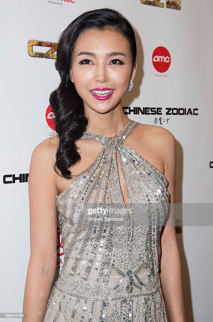 Actress <a gi-track='captionPersonalityLinkClicked' href=/galleries/search?phrase=Yao+Xingtong&family=editorial&specificpeople=8254709 ng-click='$event.stopPropagation()'>Yao Xingtong</a> attends the Los Angeles premiere of 'Chinese Zodiac' at AMC Century City 15 theater on October 16, 2013 in Century City, California.