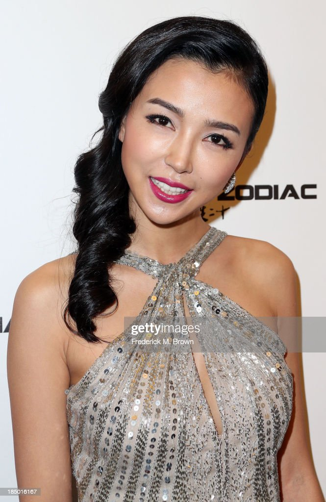 Actress Yao Xintong attends the premiere of Wanda and AMC releasing's 'Chinese Zodiac' at the AMC Century City 15 theater on October 16, 2013 in Century City, California.