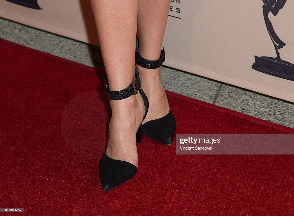 Actress Yara Martinez (shoe detail) attends The Television Academy presents Amazon Studios at The Television Academy at Leonard H. Goldenson Theatre on November 7, 2013 in North Hollywood, California.