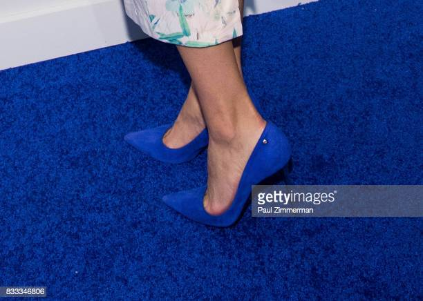 Actress Yara Martinez shoe detail at 'The Tick' Blue Carpet Premiere at Village East Cinema on August 16 2017 in New York City