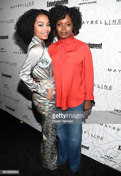 Actress Yara Shahidi and Keri Shahidi attend the Entertainment Weekly Celebration of SAG Award Nominees sponsored by Maybelline New York at Chateau...