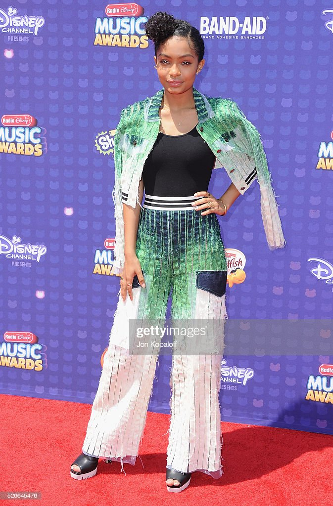 Actress Yara Shahidi arrives at the 2016 Radio Disney Music Awards at Microsoft Theater on April 30, 2016 in Los Angeles, California.