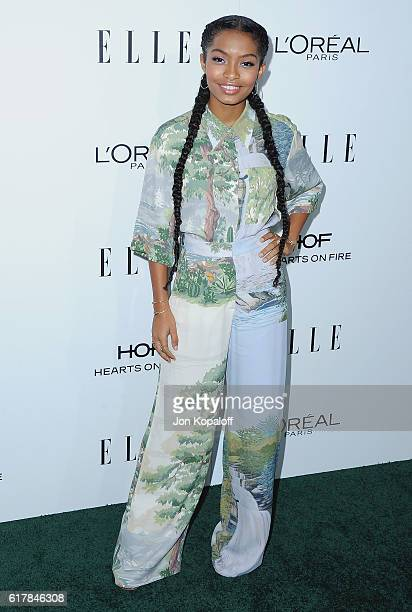Actress Yara Shahidi arrives at the 23rd Annual ELLE Women In Hollywood Awards at Four Seasons Hotel Los Angeles at Beverly Hills on October 24 2016...