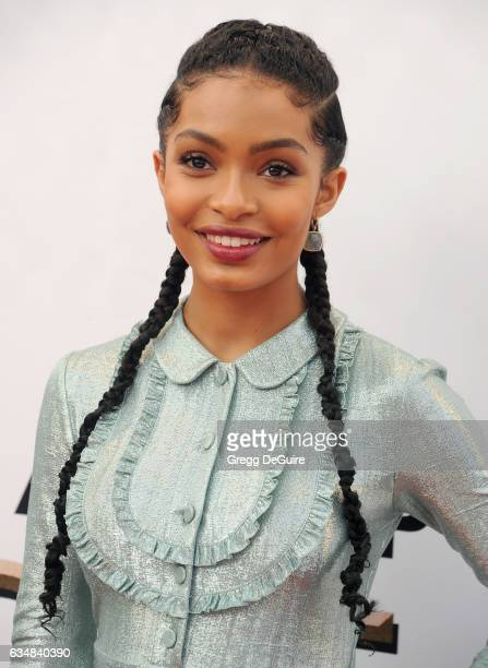 Actress Yara Shahidi arrives at the 48th NAACP Image Awards at Pasadena Civic Auditorium on February 11 2017 in Pasadena California